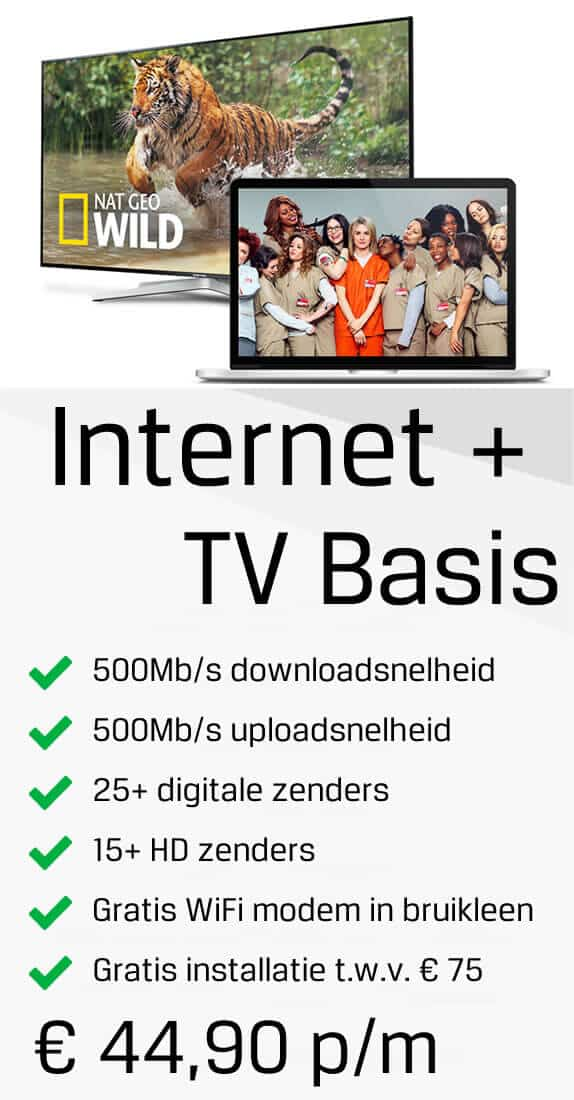 internet en tv basis